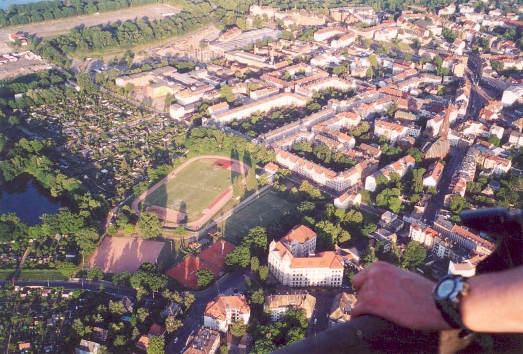Luftaufnahme Sportanlage Charlottenhof (2004)
